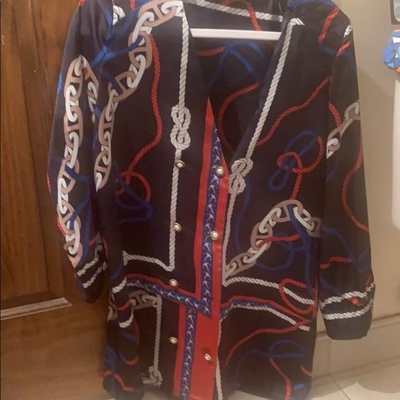 Zara Dresses & Skirts - NWOT Zara dress nautical v neck dress L